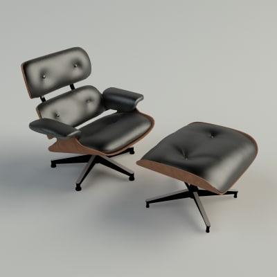 eames lounge chair 3d model