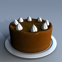yummy chocolate cake 3d model