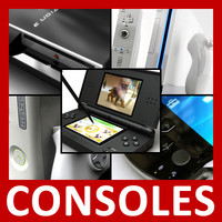 consoles pack controller gamepad 3d model