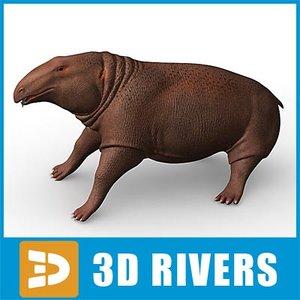 desmostylia animal 3d max