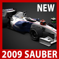 2009 F1 Sauber F1.09 (car, helmets, steering wheel and seat)