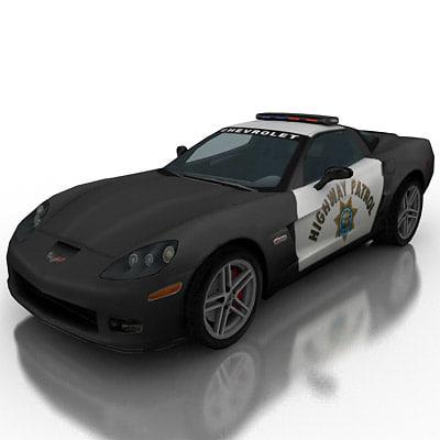highway patrol 3d model