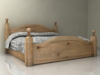 3d model harvest wood bed bedroom furniture