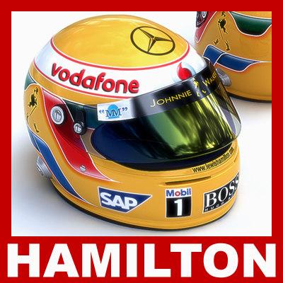 lewis hamilton helmet f1 3d model