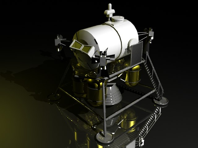 lunar surface access 3d max