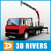 3d tow truck big augmentor
