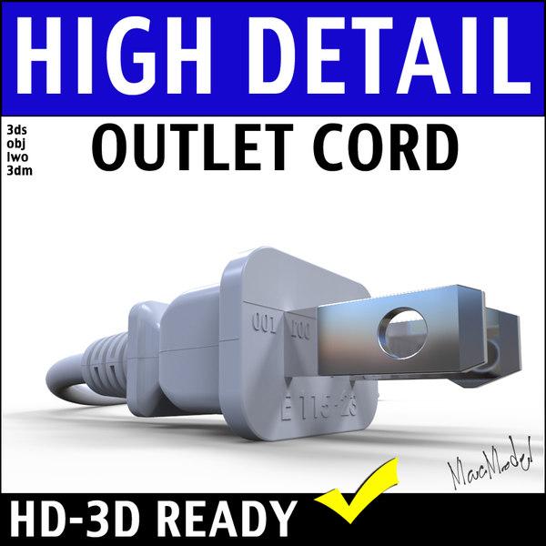 3d model electrical plug modeled