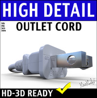 Electrical Outlet Plug 3D Model
