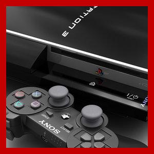 3d playstation 3 dualshock controller model