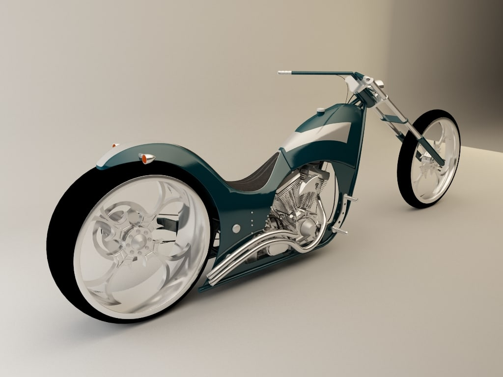 customizable motorcycle chopper 3d max