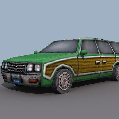station wagon 3d model