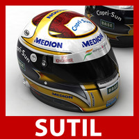 3d model adrian sutil f1 helmet
