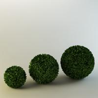 spherical bushes 3d model