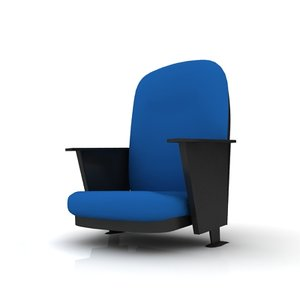 3dsmax theater chair place