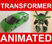Robot Lamborghini Gallardo (RIGGED)