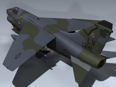 3d model a-7d corsair ii 4450th