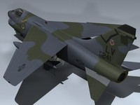 3d model a-7d corsair ii 4450th