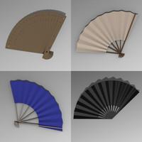 hand fans 3ds