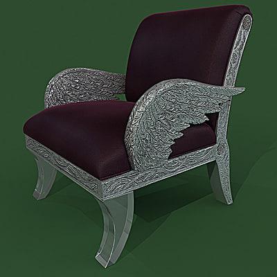 armchair colombo 209pl 3d max