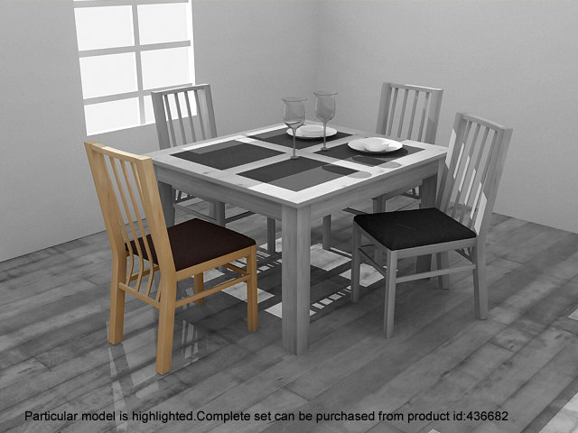 3ds max atlantis dining chair set