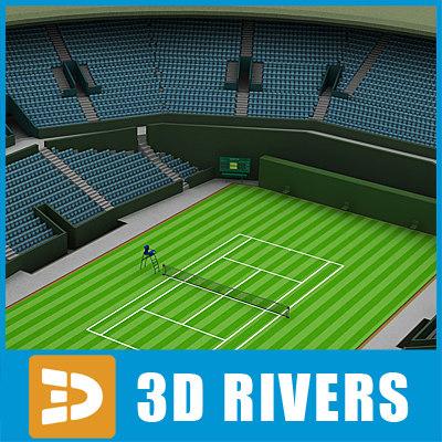 3d tennis stadium