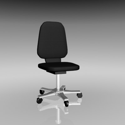 3d model office desk chair