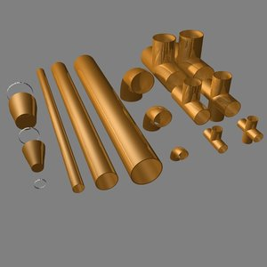 3d model copper pipe