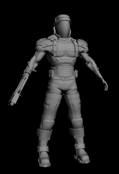 3d model cyborg 1