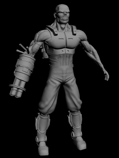 3d cyborg 2 model