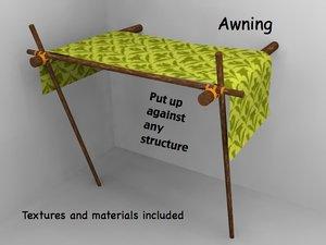 3d model awning