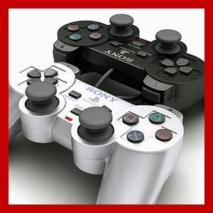 3d playstation ps2 controller -