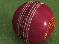 cricket leather ball - 3d model