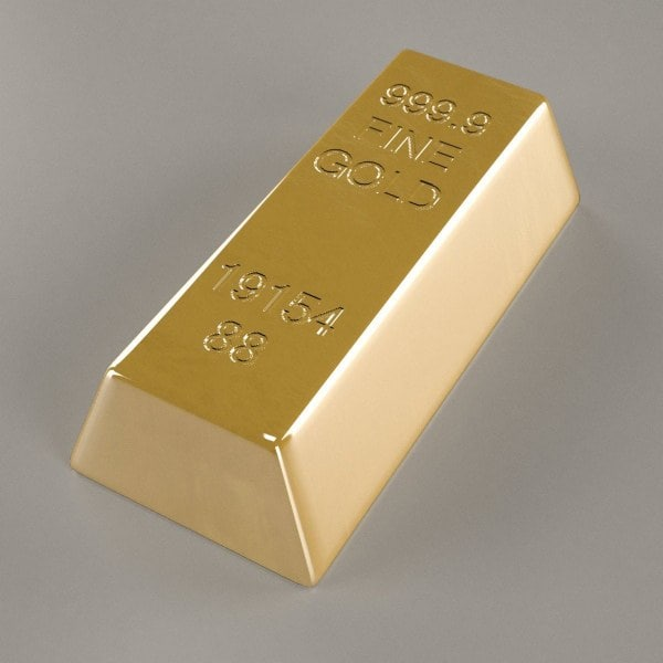 golden bar 3d model