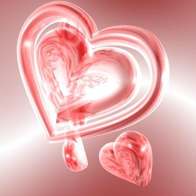 3d model love hearts