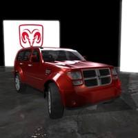 3d model suv dodge nitro