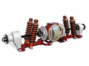 independent rear suspension assy 3d dxf