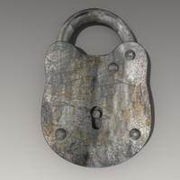 lock 3d 3ds