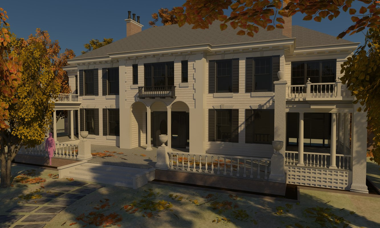 mansion details home 3d model