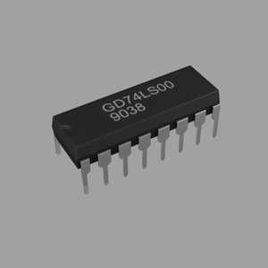 3d microchip dip16 model