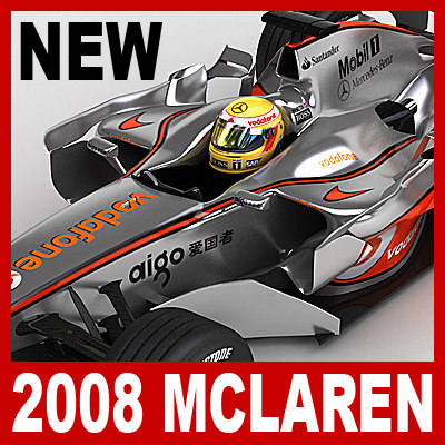 3d 2008 vodafone mclaren mercedes model