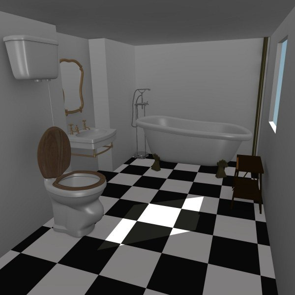 3ds Max Old Bathroom Interior