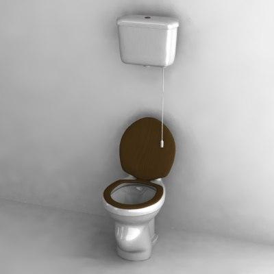 3dsmax Old Toilet