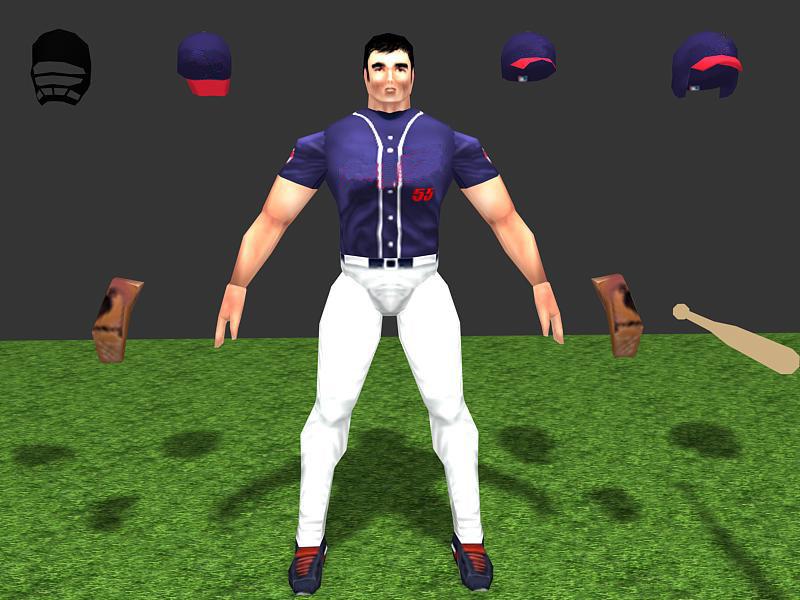 3d player baseball model