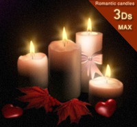 romantic candles 3d model