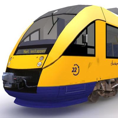 syntus lint train 3d model