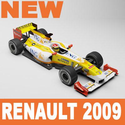 renault f1 3d model