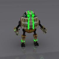 3d robot worker
