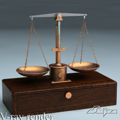3d model of scales v-ray mentalray