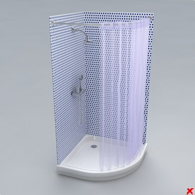 3ds max shower cabin