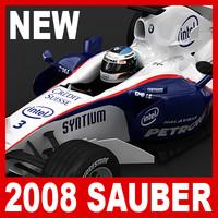 3d model 2008 sauber f1 08